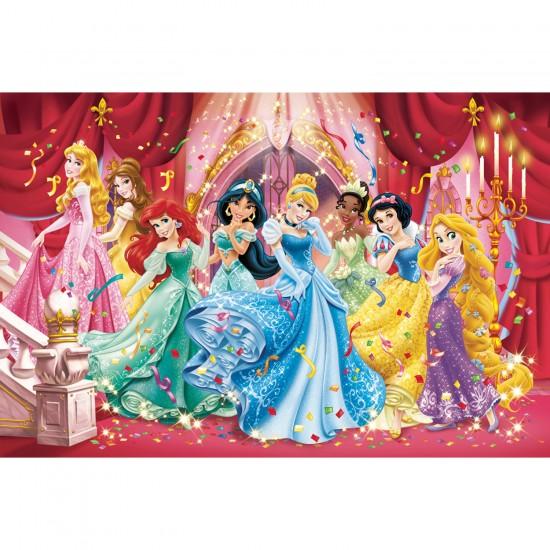 Puzzle cadre 15 pièces : Les Princesses Disney au bal - Clementoni-22074-22220-4