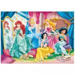 Puzzle cadre 15 pièces : Les Princesses Disney se préparent pour le bal