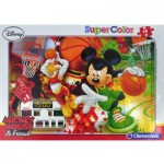 Puzzle cadre 15 pièces : Mickey sport : Basket