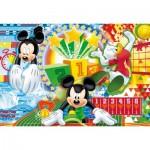 Puzzle cadre 15 pièces : Mickey sport : Jeux olympiques