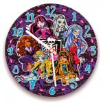 Puzzle horloge 96 pièces fluorescent Monster High