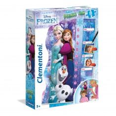 Puzzle toise 30 pièces maxi : Double Fun La Reine des Neiges