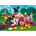 Puzzle 104 pièces maxi - Mickey et ses amis : En voiture