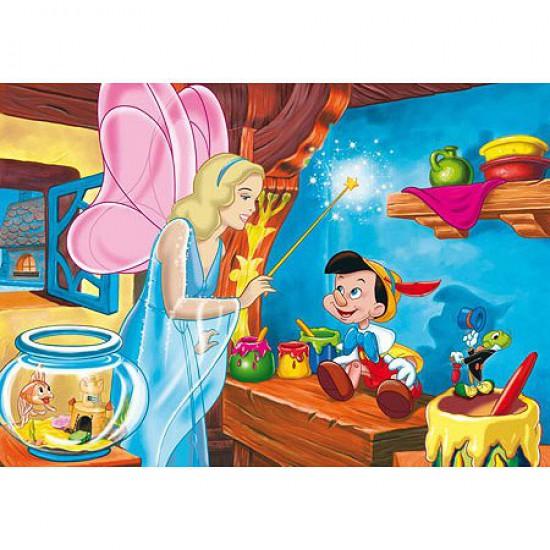 Puzzle 104 pièces maxi - Pinocchio : La Fée Bleue - Clementoni-23559