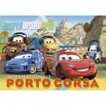 Puzzle 104 pièces - Effet 3D - Cars 2 : Internationale Porto Corsa