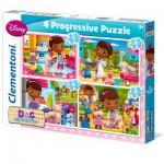 Puzzles de 12 à 35 pièces : 4 puzzles : Docteur la peluche