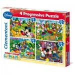 Puzzles de 12 à 35 pièces : 4 puzzles : Mickey Mouse Club House