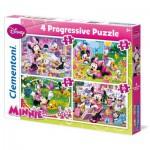 Puzzles de 12 à 35 pièces : 4 puzzles : Minnie