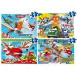 Puzzles de 12 à 35 pièces : 4 puzzles : Planes