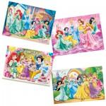 Puzzles de 12 à 35 pièces : 4 puzzles : Princesses Disney