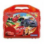 Valisette puzzle 24 cubes : Cars