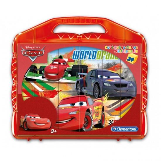 Valisette puzzle 24 cubes : Cars - Clementoni-42400-42447