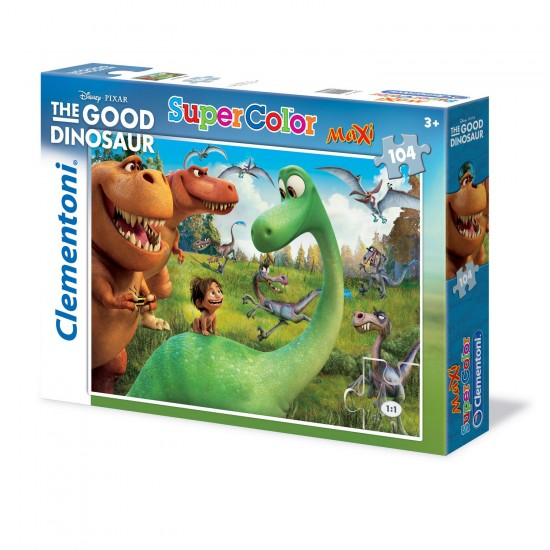 Puzzle 104 pièces Maxi : Super Color le Voyage d'Arlo - Clementoni-23683