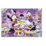 Puzzle 15 pièces cadre : Minnie dans son salon de toilettage