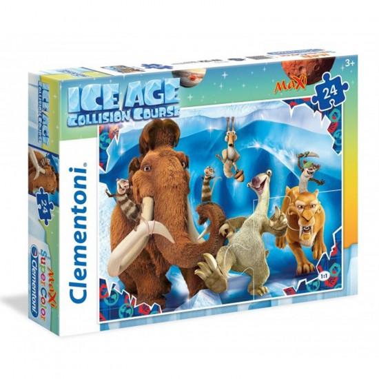 Puzzle 24 pièces Maxi : l'Âge de Glace 5 - Clementoni-24055