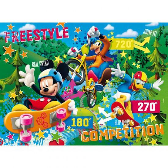 Puzzle 40 pièces - Puzzle de sol : Mickey et ses amis - Clementoni-25436