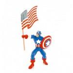 Figurine Marvel : Captain America avec drapeau