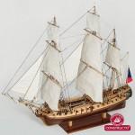 Maquette bateau en bois : La Flore