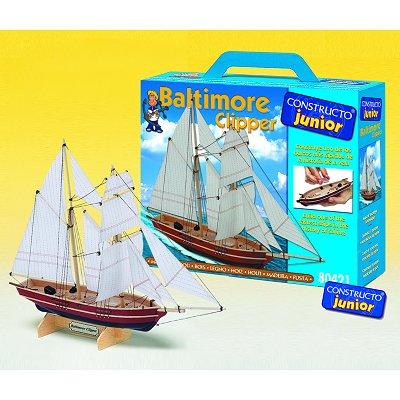 Maquette bateau en bois : Ligne Junior: Baltimore Clipper - Constructo-80421