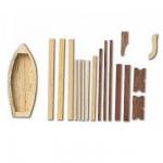 Accessoire pour maquette de bateau en bois : Bateau 100 mm