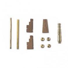 Accessoire pour maquette de bateau en bois : Canons en laiton avec support 27 x 4.5 mm par 2