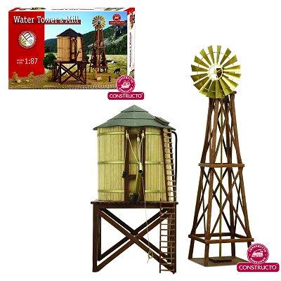 Maquette en bois: Château d'eau et Eolienne HO - Constructo-80310