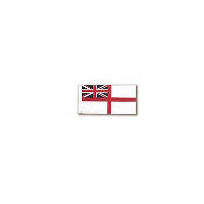 Accessoire pour maquette de bateau en bois : Drapeau Enseigne Blanche : Royal Navy - en tissu autoco - Constructo-80192