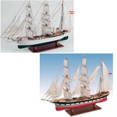Maquette bateau en bois : Galatea / Glenlee