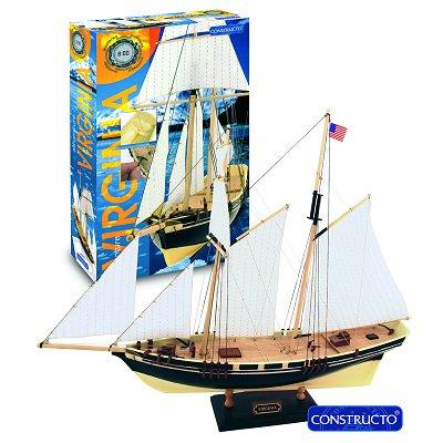 Maquette bateau en bois : Ligne 8h: Virginia - Constructo-80567