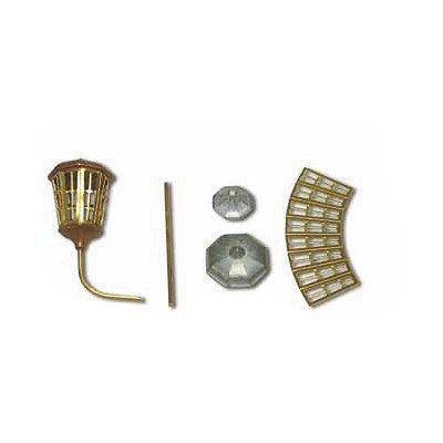 Accessoire pour maquette de bateau en bois : Luminaire octogonal en métal 14 mm - Constructo-80096