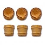 Accessoire pour maquette de bateau en bois : Seaux ø 10 mm par 6