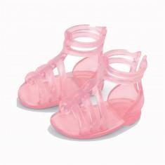 Chaussures Les chéries : Sandales roses transparentes