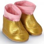 Chaussures pour poupée 36 cm Mademoiselle Corolle : Bottines dorées