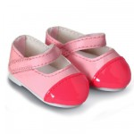 Chaussures pour poupée 36 cm Mademoiselle Corolle : Chaussures vernies roses