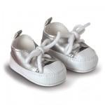 Chaussures pour poupée 36 cm Mademoiselle Corolle : Tennis argentées