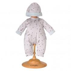 Ensemble bébé 30 cm Mon premier Corolle : Pyjama Gris Etoilé & Bonnet