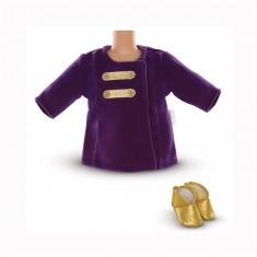 Ensemble bébé 36 cm Mon classique Corolle : Manteau Paris en fête avec ballerines dorées