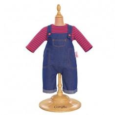Ensemble bébé 42 cm : Salopette en jean