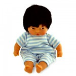 Les minis de Corolle Asiatique : Pyjama rayé bleu et blanc