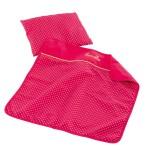 Set couverture et oreiller Corolle : Cerise