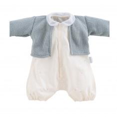 Vêtement pour poupon 52 cm Bébé Chéri : Barboteuse et gilet Contes de Noël