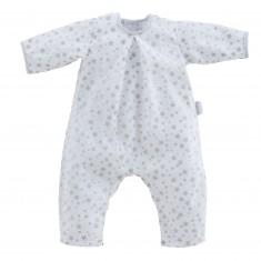 Vêtement pour poupon 52 cm Bébé Chéri : Pyjama blanc étoiles