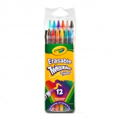 12 crayons couleur twistables
