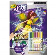 Coloriages Colour Alive : Forêt enchantée