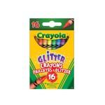 Crayons : 16 crayons à la cire pailletés