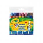 Crayons : 16 feutres aux pointes fantaisies