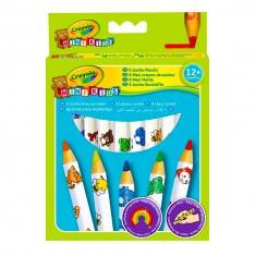 Crayons Boîte de 8 maxi crayons de couleur : Mini Kids