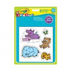 Gommettes géantes animaux Mini Kids