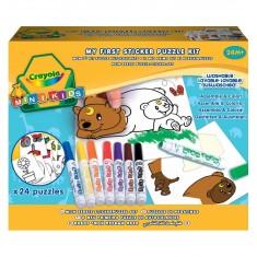 Kit autocollants Mini Kids : Mon premier puzzle autocollant