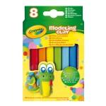 Pâte à modeler : 8 bâtons couleurs classiques